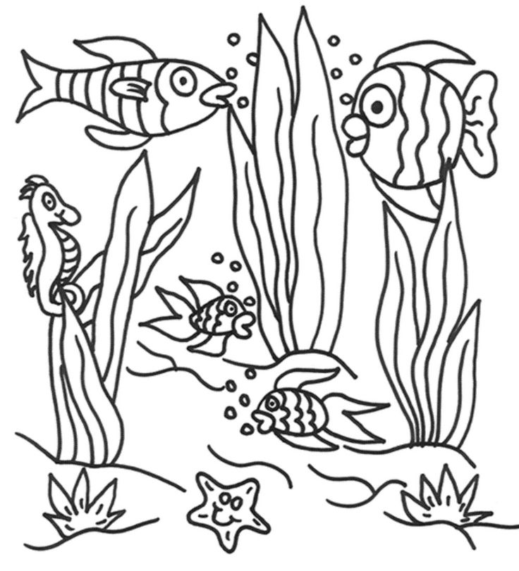 Ocean landscape coloring pages