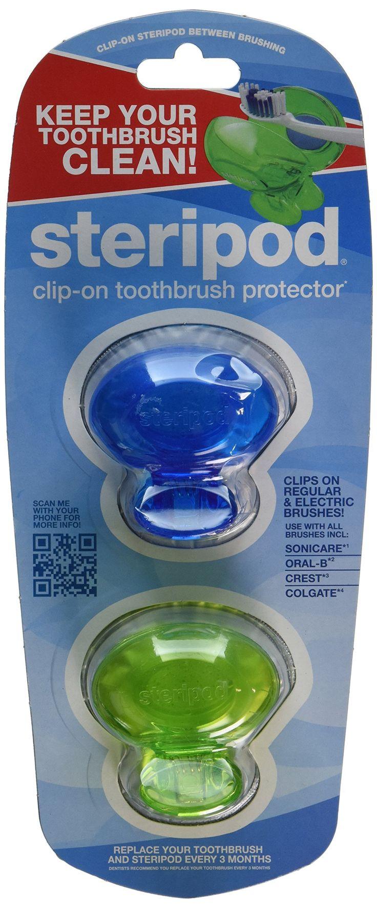 Steripod Clipon Toothbrush Sanitizer (2 Pack
