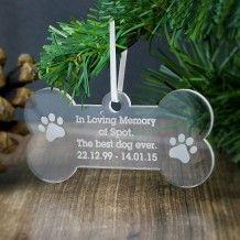 Personalised Acrylic Dog Bone Decoration