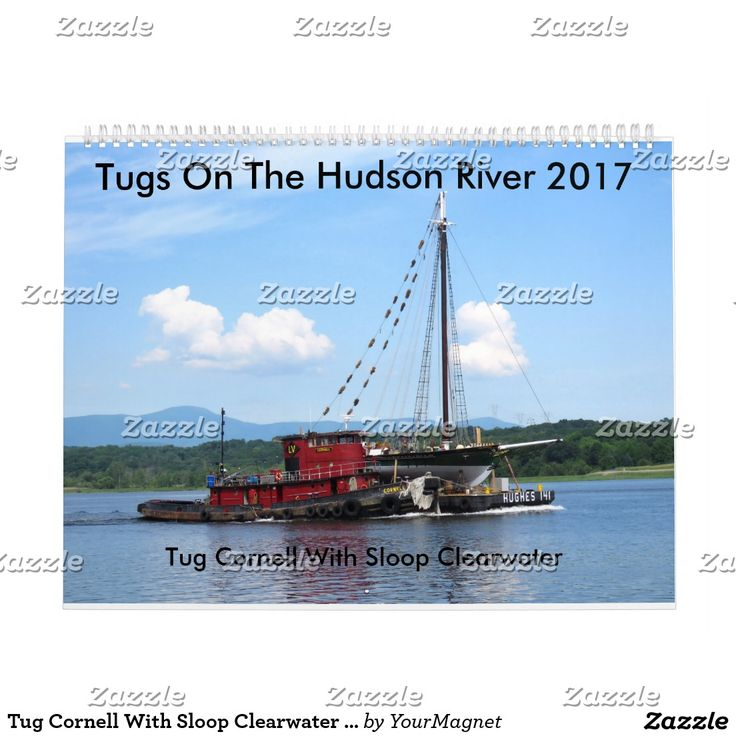 Tug Cornell With Sloop Clearwater  2017 Calendar