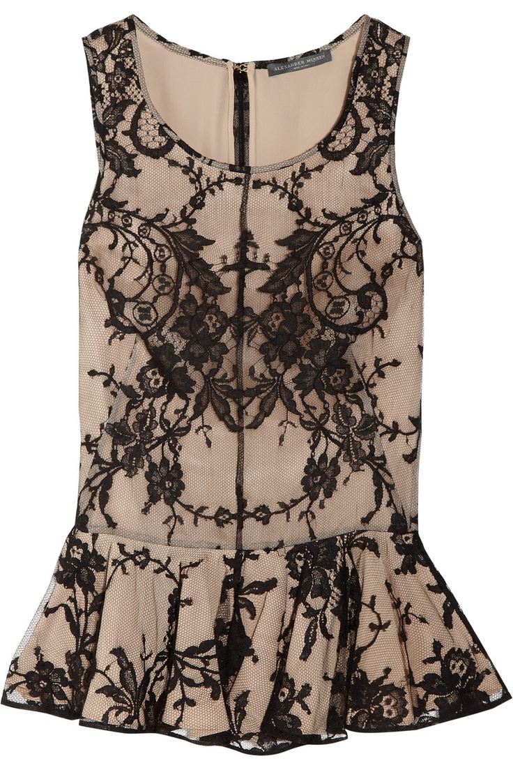 McQueen lace peplum top is EVERYTHING!