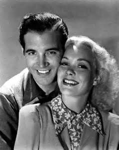 Studio shots from the 1939 comedy Kid Nightingale . John Payne and Jane Wyman