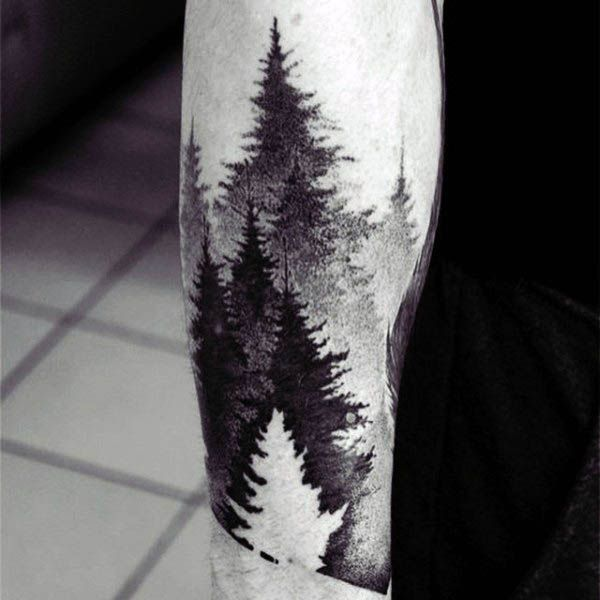 60 Negative Space Tattoo Designs For Men - Manly Ink Ideas