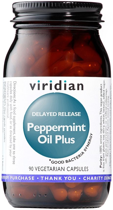 Viridian Peppermint Oil Plus Delayed Release Veg Capsules with Ginger - Quick relief from Indigestion, Bloating & IBS #IBS #Peppermint #Ginger #ViridianNutrition #Vitamins #Minerals #Supplements http://www.theremustbeabetterway.co.uk/viridian-peppermint-oil-plus-delayed-release-caps.html