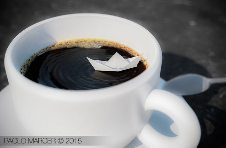 Coffee paper boat