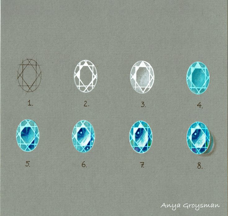 Drawing gemstones with Anya Groysman