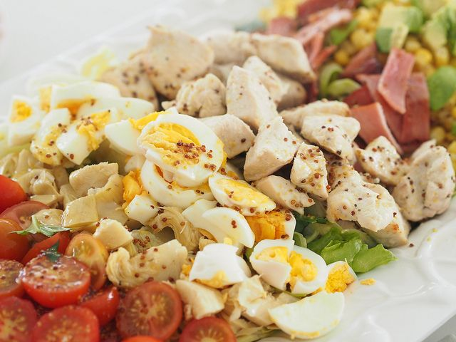 how I make cobb salad from Against All Grain. This is our new favourite salad in the house