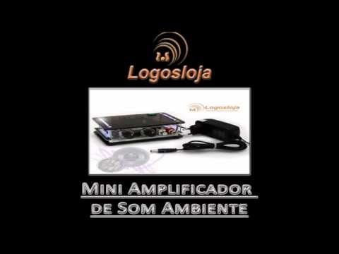 Mini Amplificador de Som Ambiente - Logos Loja
