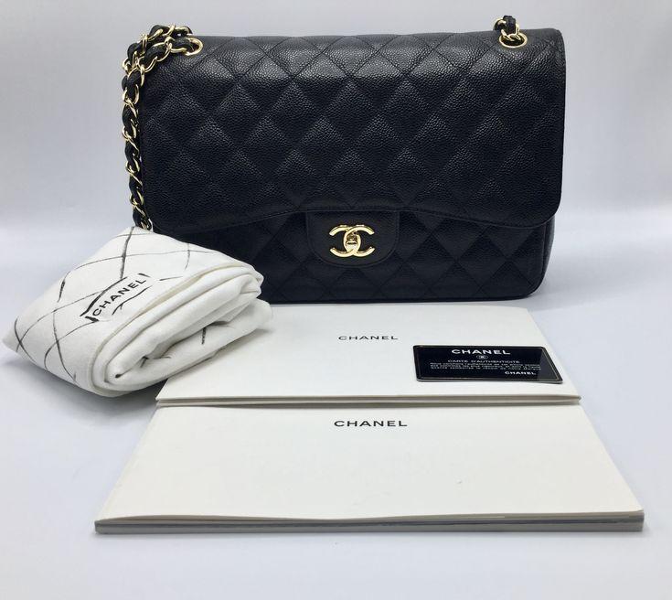 Iconics Bags Chanel Timeless Jumbo Caviar Golden Hardware Chanel Chanel Bag Handbag Shoes