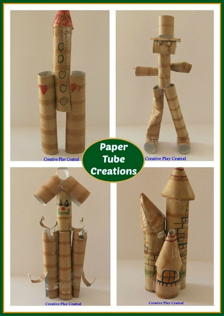 Paper Tube Creations. Recommended by Andrea Beaty, author of Iggy Peck, Architect. #STEAM
