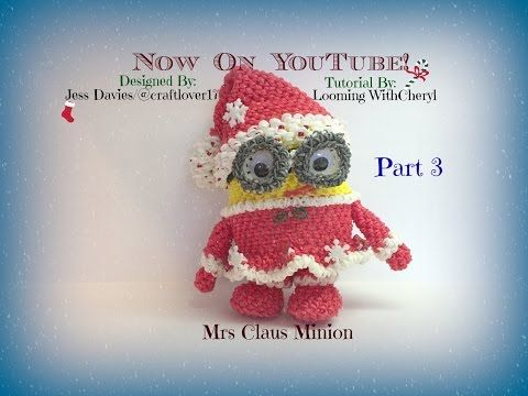 Rainbow Loom BODY Mr and Mrs Claus Minions (PART 3) - Loomigurumi - Amigurumi - YouTube
