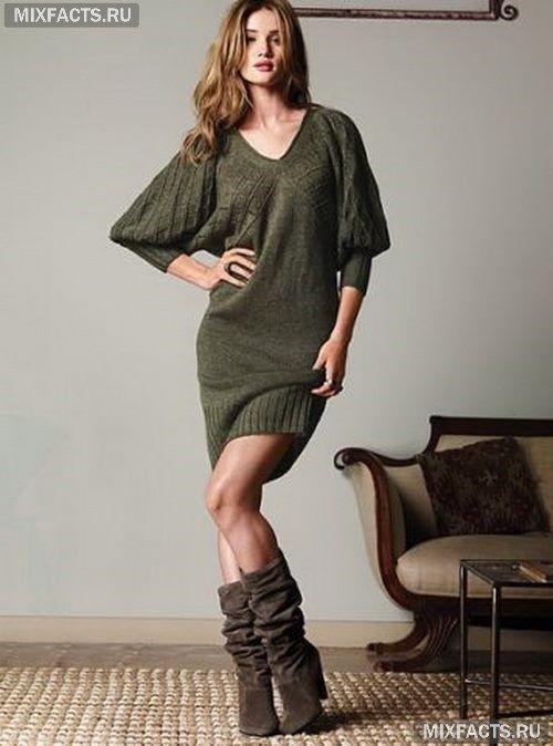 модные зимние платья свободного кроя