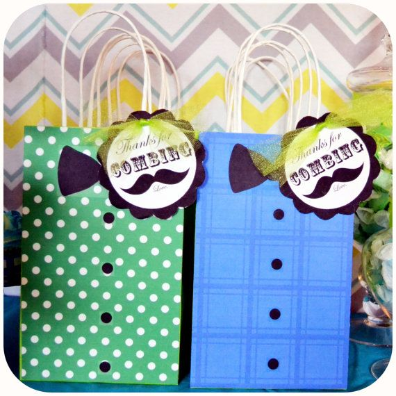 Little Man; Little Man Baby Shower; Little Man Party; Lil' Man; Little Man Baby Birthday Party Favor Gift Bags Premade and mailed to you!