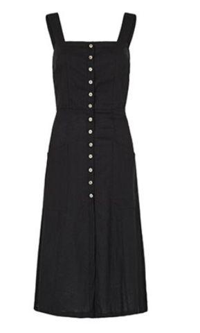 Paddo to Palmy Milan Linen Dress - Black ($239)