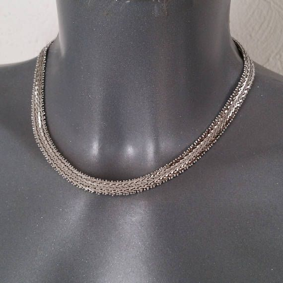 Halskette Schlangenkette 835 Silber Vintage edel elegant
