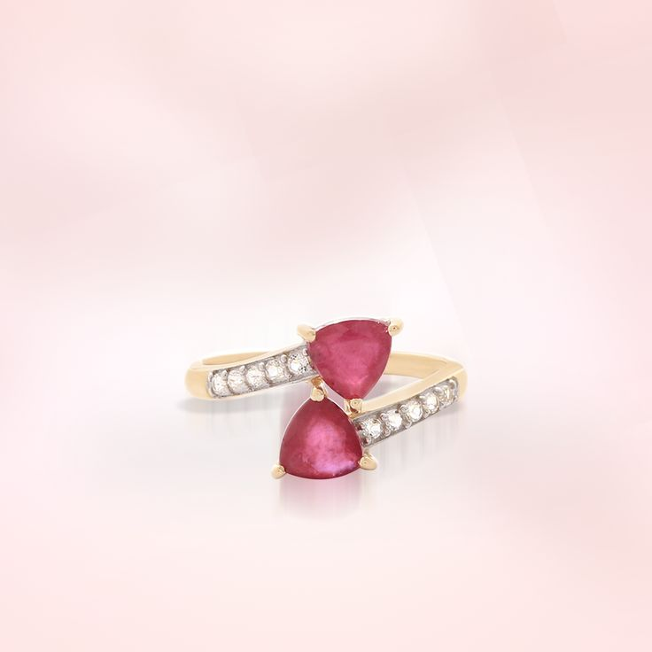 Ruby Ring with Diamond | Gemporia India