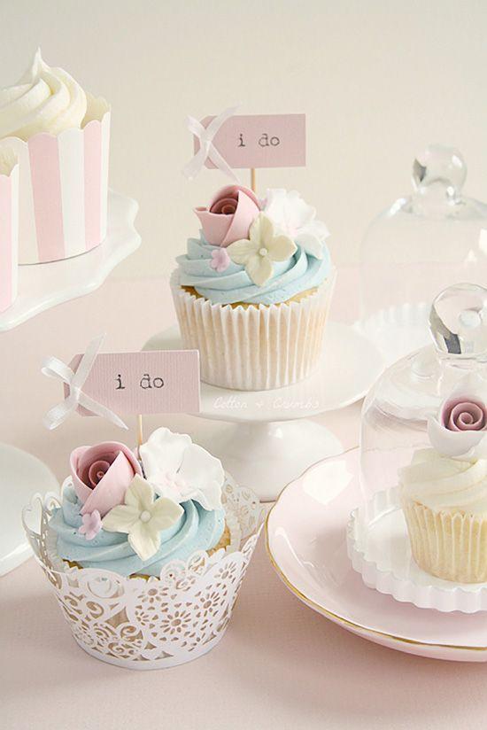 #Pastel Wedding Cupcakes... Wedding ideas for brides, grooms, parents & planners ... https://itunes.apple.com/us/app/the-gold-wedding-planner/id498112599?ls=1=8 … plus how to organise an entire wedding ♥ The Gold Wedding Planner iPhone App ♥