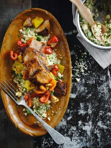 Couscous met rundsvlees en geroosterde paprika's  http://njam.tv/recepten/couscous-met-rundsvlees-en-geroosterde-paprikas