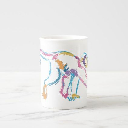 Rainbow Monkey Tea Cup - animal gift ideas animals and pets diy customize