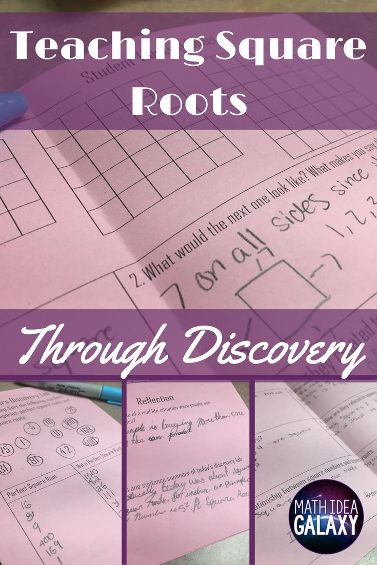369 best 8th grade common core math images on pinterest common breaking down how to teach students all about squares roots through discovery using a discovery robcynllc Gallery