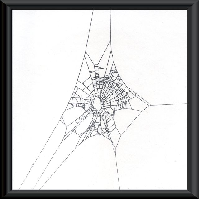 Spider web | Home Wood Sculptures Spider Web Art Knothole Frames Pen & Ink Drawing ...