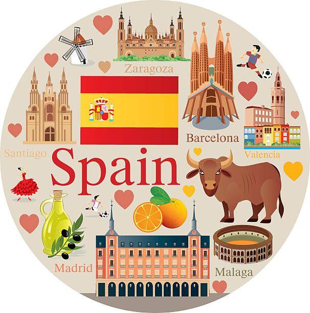 España viajes – ilustración de arte vectorial