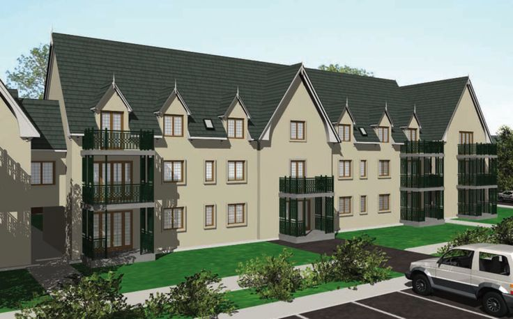 3D rendering of new Student Apartment complex close to Carlow RTC.