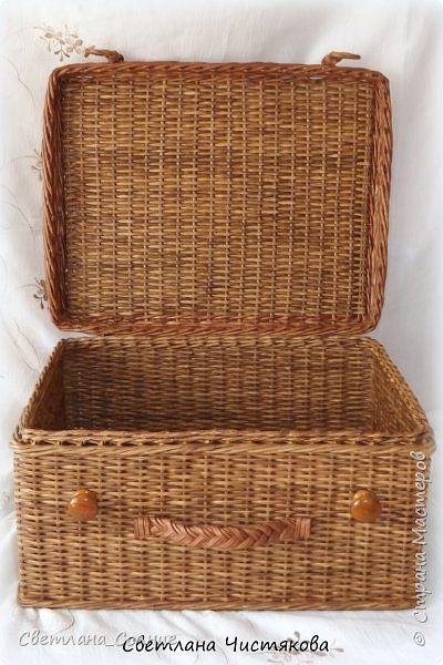 Поделка изделие Плетение Чемодан и чемоданчик Бумага Бумага газетная фото 2