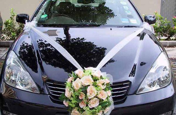 wedding car decorations - Google Search