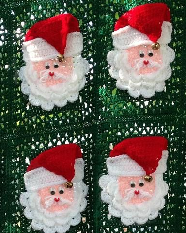 Picture of Christmas Santa Afghan Crochet Pattern