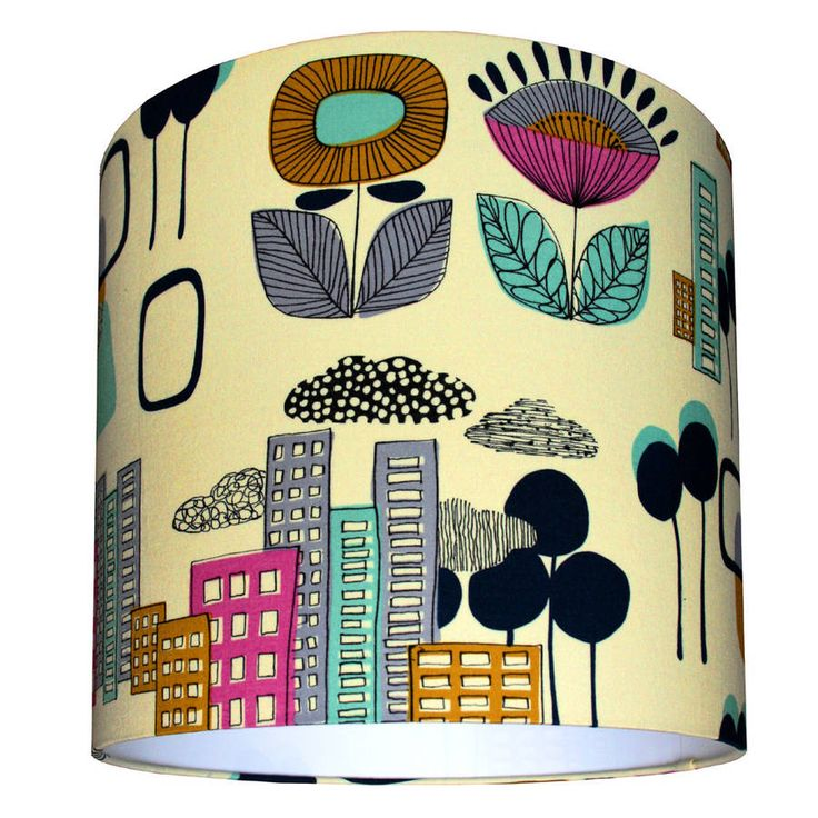 A stunning lampshade handmade from a 50s inspired cotton fabric.Welcome to Love Frankie where all of our items<strong> </strong>are lovingly handmade to order by the Love Frankie elves and orders will be in your hands 7-10 working days from receipt of payment. All shades are suitable for ceiling pendants, table and floor lamps and are made using a professional flame retardant PVC. They are made with a European 39mm ring fitting and supplied with a reducing ring to fit 29mm standard UK…