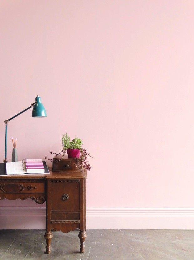 Parede rosa suave, cor Bromélia, da Colorhouse (Foto: Divulgação)