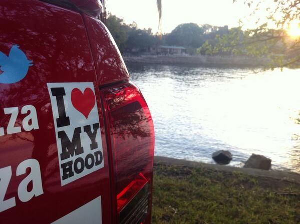 Madame Zingara's 'I heart my hood' sticker made it all the way to the shores of Lake Kariba #putfootrally