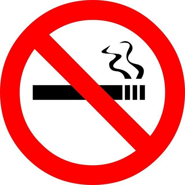 Naklejka Zakaz Palenia. Oznaczenie informuje o zakazie palenia w pojeździe przystosowanym do transportu zbiorowego. Zgodnie z Ustawą Antynikotynową...