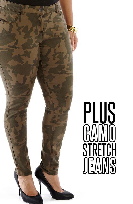 Plus Size Camo Stretch Jeans Camo Plus Jeans Pants