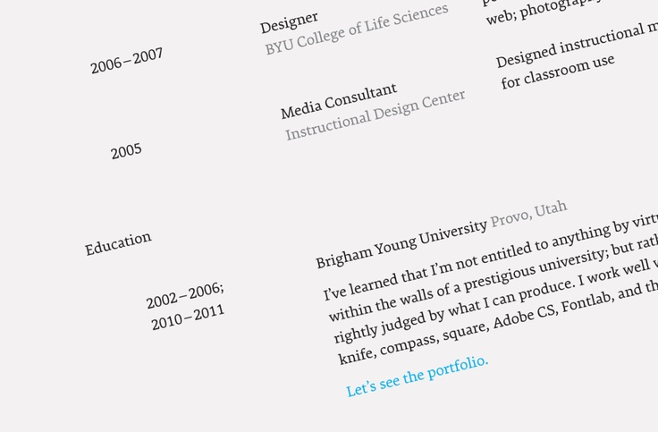 What's the best font for resumes? Our font expert, David, talks about Using Type for #design resumes. #typography