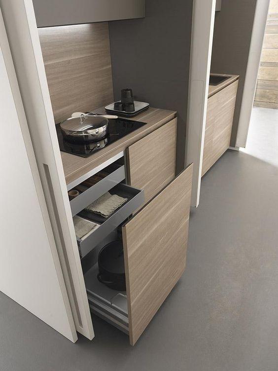 hidden kitchen design. Cookers and drawers of Wardrobe Kitchen  details design 59 best Hidden images on Pinterest Modern kitchens