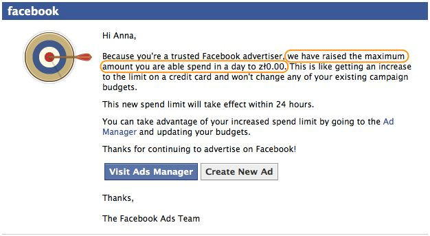 """Happy to be a """"trusted Facebook advertiser"""" ;)"""