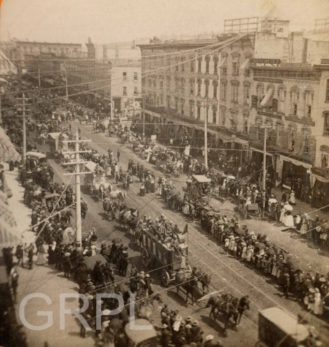 Circus Parade on Canal Street - 1876: Rapid Historical, Canal Street, Historical Photo, Grand Rapid, Circus Parade, Rapid History