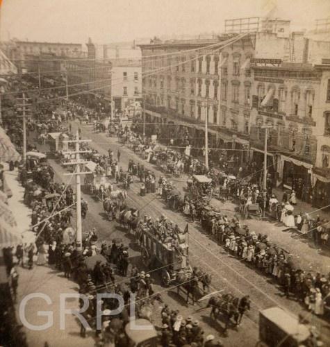 Circus Parade on Canal Street - 1876Canal Street, Grand Rapid, Circus Parade, Rapid History