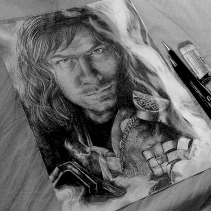 One of my latest artwork: Kili from The Hobbit