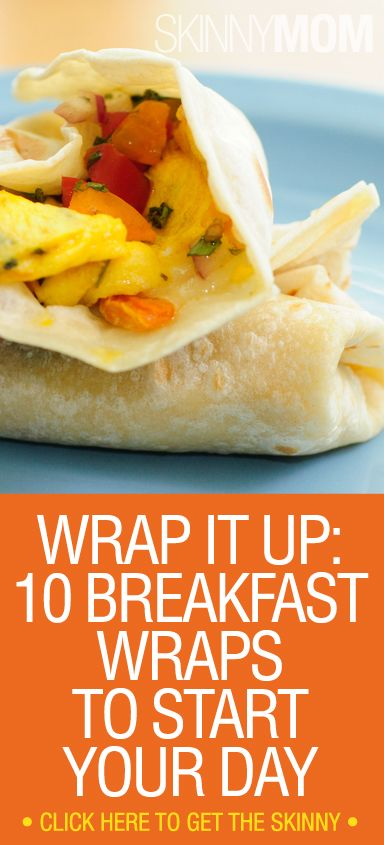 10 Skinny Breakfast Wrap Ideas // fast ideas for any meal #fastfood #healthy
