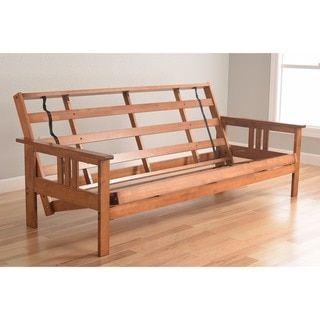 somette beli mont multi flex honey oak full size wood futon frame beli mont multi flex futon frame in honey oak wood brown