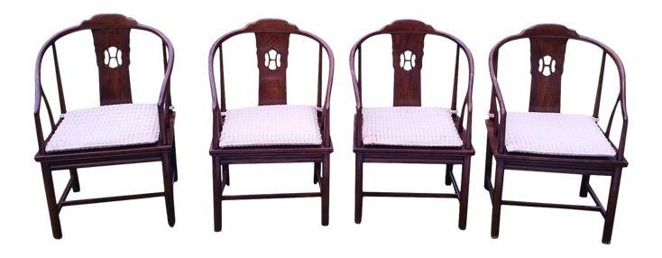 Henredon Asian Dining Chair - Set of 4 on Chairish.com