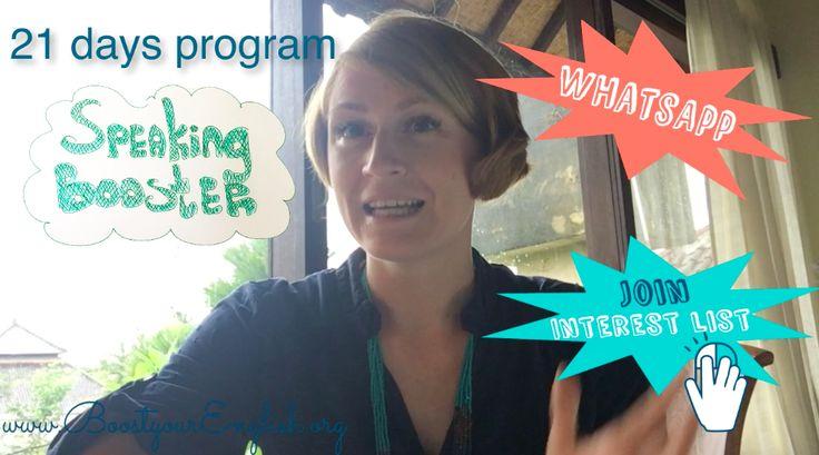 Speaking Booster Program