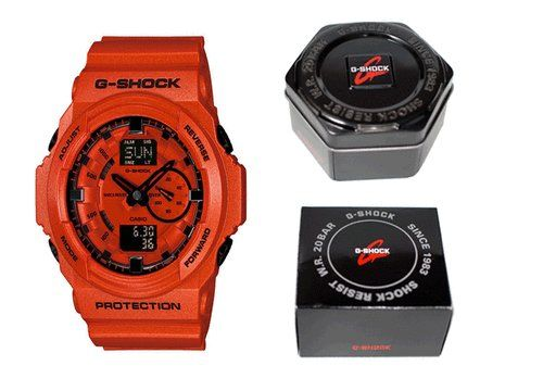 Bathbear Casio G Shock Ga150A-4A Coral Red Xl Brand New Retail Box Usa 2012 Collection http://watchesforsaleonline.blogspot.ro/