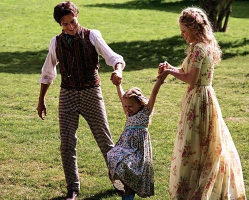 Cinderella and her parents.