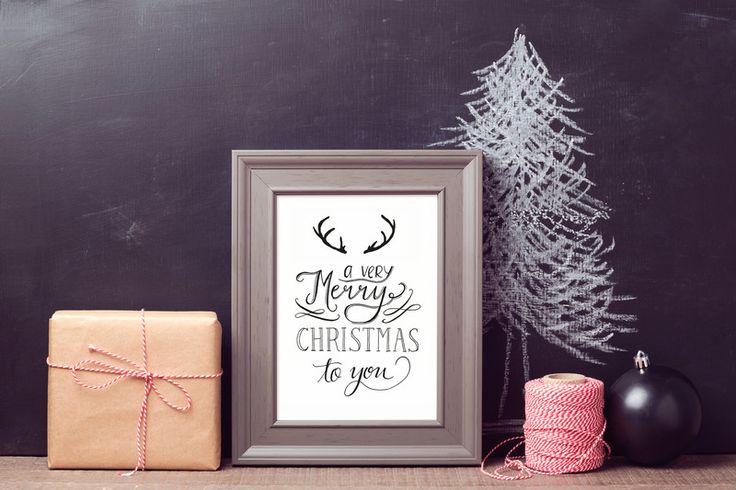 """Postkarten """"Weihnachten"""" - Handlettering  von Beiderhase Grafik und Design auf DaWanda.com"""