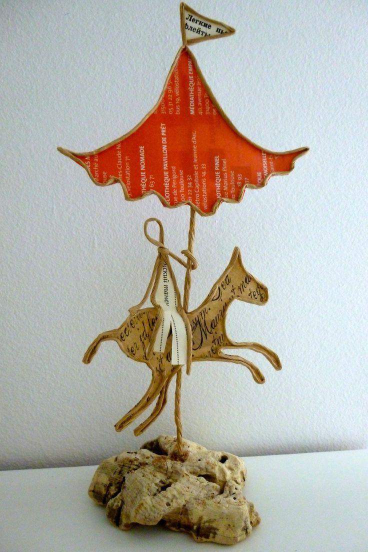 Tournez manège ! - figurines en ficelle et papier : Accessoires de maison par ficelleetpapier