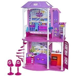 $63.99 Barbie Ultimate Beach House Party! Glam Pool, BQQ, Doll and 30 Accessories. Barbie 2-Story Beach House: With two stories and four areas of play in the Barbie 2-Story Beach House, the fun need never end. The living room is the perfect spot to lounge, with a sofa and flat-screen TV. The kitchen features typical appliances and a window bar for dining outside. The bathroom and spiral staircase add practical but fun play areas and bookend the bedroom, which has a foldout bed ideal for…